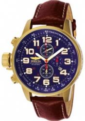 Invicta 3329 Men's I-Force Chronograph Light Brown Leather