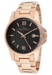Lucien Piccard 10048-RG-11 Men's Breithorn Black Dial Rose Gold T