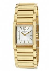 JACQUES LEMANS GU210K Women's silver Dial Gold Plated Stainl