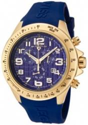 SWISS LEGEND 30041-YG-03 Men's Eograph Chronograph Blue Grid Dial Blue