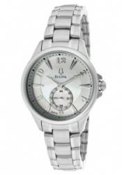 Bulova 96P116 Women's White Diamond White MOP & Silver D
