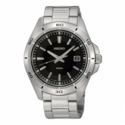 Seiko SGEE89P1 Stainless Steel Sapphire Crystal Black Dial 1