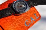 FS: Black Shark Strap + Minimal Red Stitching for Omega Chronostop