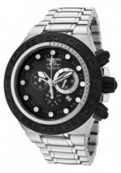 Invicta 1527 Men's Subaqua/Sports Chronograph Black Dial Stainless Steel