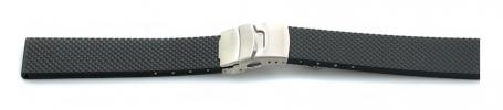 F/S - Bonetto Cinturini rubber deployant straps - 18 mm only