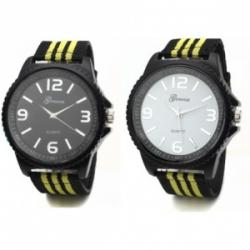 Yellow Stripe Sports Watch