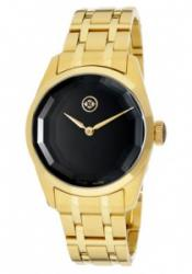 Evisu 8001-44 Women's Minako Black Dial Gold Tone Ion Plated Stainless Stee