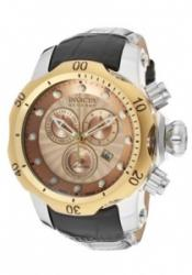Invicta 10818 Men's Venom/Reserve Rose Gold Textured Dial Black G