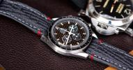 FS: Grey Shark Strap + Grey & Red Stitching for Omega Speedmaster