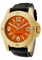 SWISS LEGEND 20188-YG-06 Men's Conqueror Orange Dial Gold To
