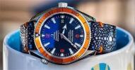 FS: Black Polished Stingray + Minimal Orange stitching for Omega planet Ocean
