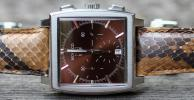 "TAG HEUER ""Python"" SS MONACO w/Double Boxes, Hang Tag & Extra Strap ALL ORIGINAL"