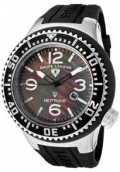 SWISS LEGEND 21818P-01-MOP Men's Neptune Black MOP Dial Black Sil