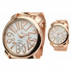 Pocket Style Rose Gold Mesh Watch