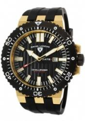 SWISS LEGEND 10126-YG-01-BB Men's Challenger Black Dial Gold