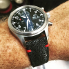 FS: Black stingray strap for IWC PILOT with minimal red stitching 21mm