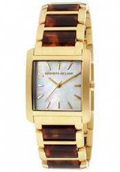 Kenneth Jay Lane 1608 Women's White MOP Dial Gold Tone IP St