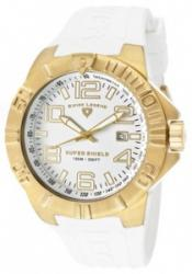 SWISS LEGEND 40117-YG-02 Men's Super Shield White Dial Gold Tone
