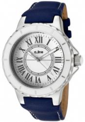 a_line 20012 Women's Marina White Dial Blue Leather