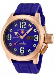 SWISS LEGEND 10543-RG-03 Men's Submersible Violet Blue Dial Rose 