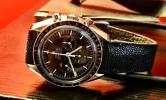 FS: Black Stingray Strap + Minimal Black Stitching for Omega Speedmaster Speedy Tuesday