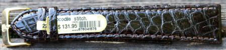 22mm Di-Modell Dark Brown Crocodile Strap $59.99