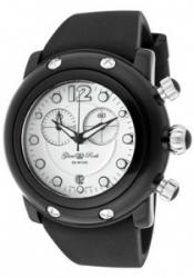 Glam Rock GK1130 Women's Miami Beach Chronograph White Dial Black Sili