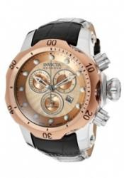 Invicta 10813 Men's Venom/Reserve Chronograph Rose Gold Textured Dial Black