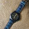 FS: Distressed Blue OTT Alligator Strap + Patina Stitching for Panerai PAM661