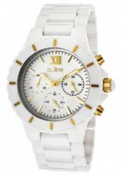 a_line 20041-WWWGR Women's Marina Chrono White Dial Gold Tone Accent White